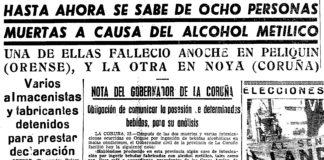Nova de primeira páxina de El Pueblo Gallego do 29 de abril de 1963.