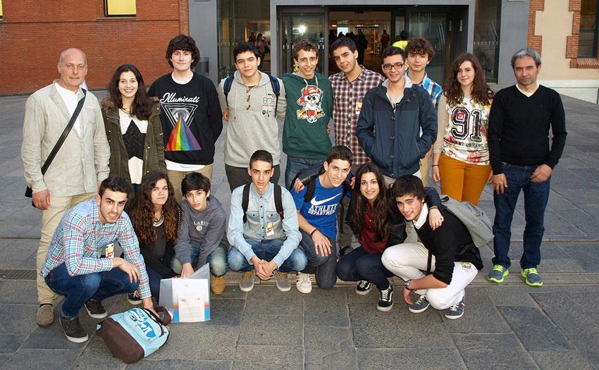 Os participantes das Aulas Tecnópole, no Exporecerca.