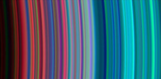 Gama de cores dos aneis de Saturno captada por Cassini. |Foto: NASA/JPL/University of Colorado.