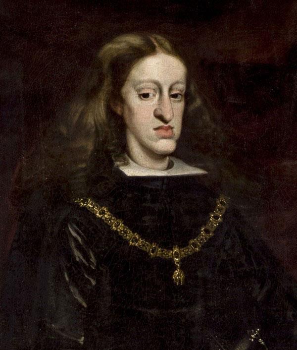 Retrato al óleo de Carlos II