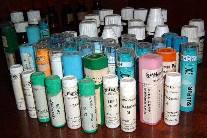 Presuntos remedios homeopáticos.