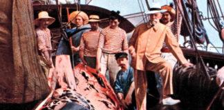 Alberto de Mónaco a bordo do Princess Alice nunha campaña de investigación.