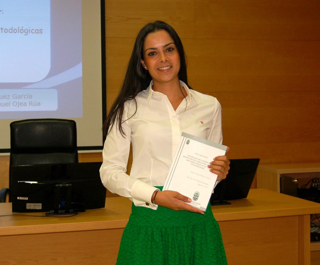 A doutora Nuria Diéguez, autora da tese sobre universitarios e Asperger. Foto: DUVI.