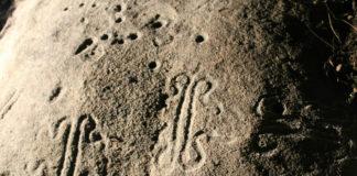 Petroglifo cun novo estilo atopado no Alto Támega. DUVI