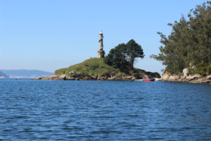 O faro da illa de Tambo.