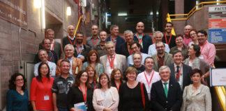 Decanos e decanas de Matemáticas, ao remate da reunión anual en Santiago.