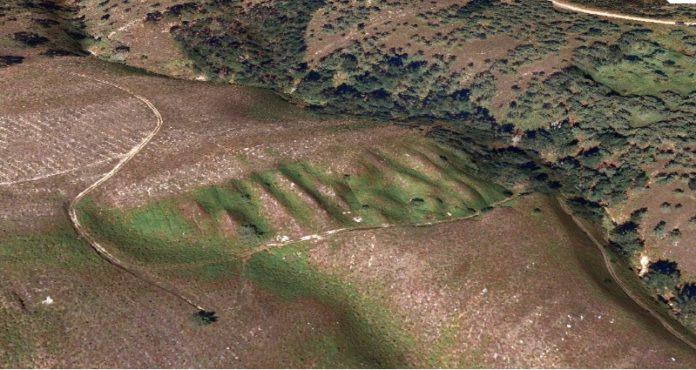 Mina de ouro romana de Os Buracos dos Mouros, en Tomiño.