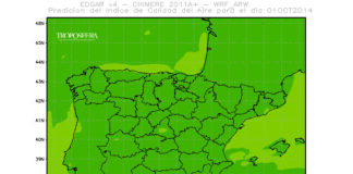 Mapa de predicción índice calidad aire