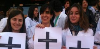 Científicas na protesta do pasado 14 de xuño.