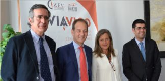 Teresa Pedrosa (Zona Franca), Manuel Varela AGAIN), Juan Cividanes (Xes Galicia) y Pedro Núñez (VIgo Activo S.C.R.).