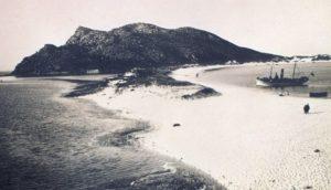 Vista das illas Cíes a comezos do século XX.