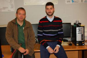 Celso Campos e Iván Rodríquez, do grupo de Informática Gráfica e Multimedia da UVigo.