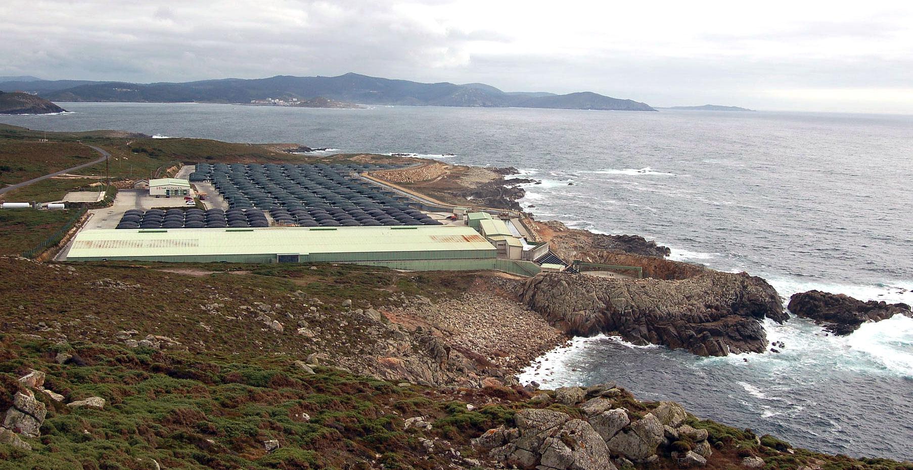 piscifactoría en Cabo Vilán
