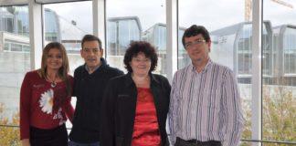 Mónica Carrera, Luis Stark, África González e Luis Anibarro, os investigadores implicados no proxecto.