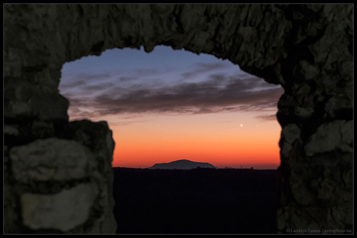 Venus e Mercurio no solpor