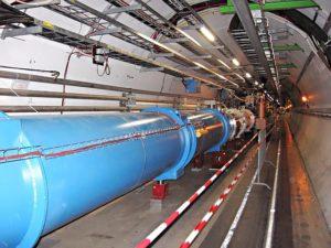 Sección do Gran Colisionador de Hadróns (LHC) do CERN.