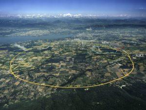 Vista aérea do CERN.