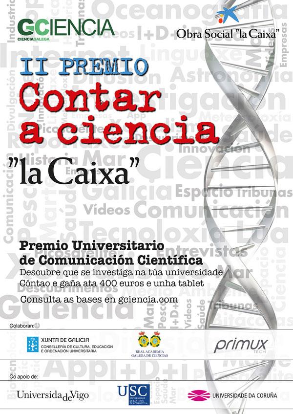 Cartel II Premio Contar a Ciencia