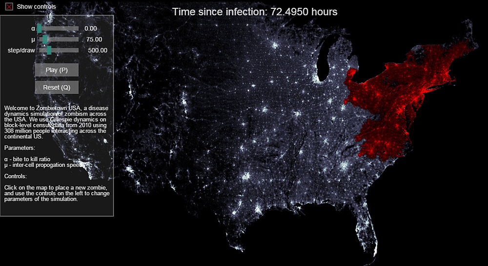 Simulador de un apocalipsis zombi