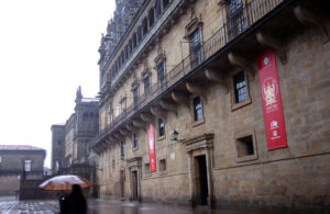 Chuvia en Santiago