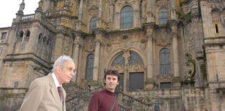 Jorge Mira co matemático John Forbes Nash, en Compostela.