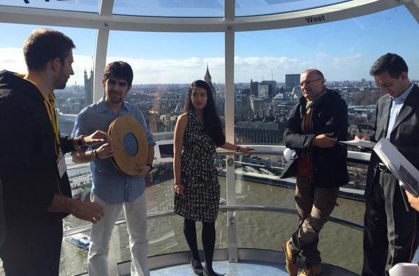 Franco Pérez presentou o invento no London Eye de Londres esta fin de semana.