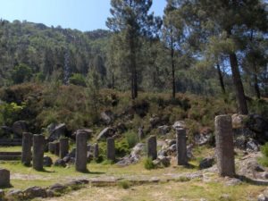 Miliarios romanos no parque do Xurés.