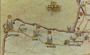 A ruta medieval a Compostela, puxante na época de Afonso de Melide.