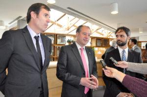O reitor Salustiano Mato xunto ao presidente de honra da Federación Europa de Xadrez, Silvio Danailov.