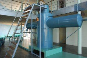 A 'boia submarina' de Sanjurjo, hoxe no Museo do Mar de Galicia.