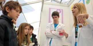 Unha actividade da feira Galiciencia no parque tecnolóxico Tecnópole.