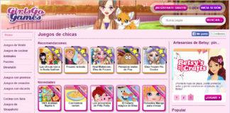 Páxina de xogos on line enfocada ás nenas, un exemplo na tese doutoral.