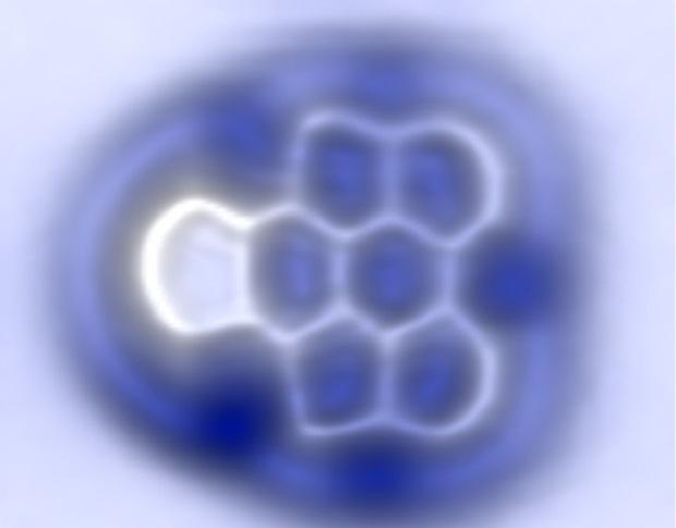 A molécula de arino detectada polo CiQUS de Santiago en colaboración con IBM.