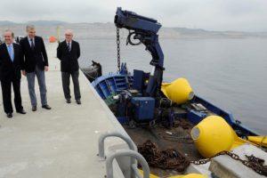 O conselleiro Francisco Conde, na inauguración da base de enerxía maremotriz de Punta Langosteira.