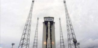 O foguete Vega, que lanzou ao espazo o satélite Xatcobeo, da UVigo.