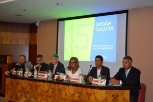 Acto de presentación do Ardán, de Zona Franca, e o informe elaborado xunto á UVigo.