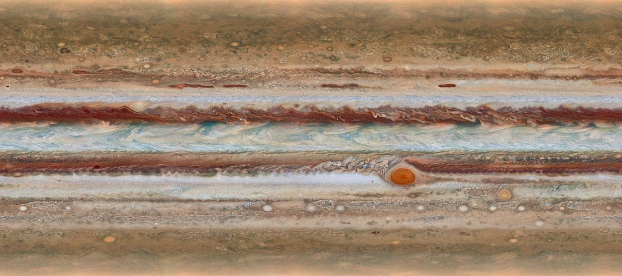 Créditos da imaxe: NASA, ESA, Amy Simon (GSFC), Michael Wong (UC Berkeley), Glenn Orton (JPL-Caltech)