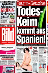Portada do diario sensacionalista alemán Bild coa 'crise do pepino'.