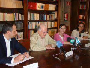 Os investigadores do CSIC e da Fundación Juana de Vega, na presentación.