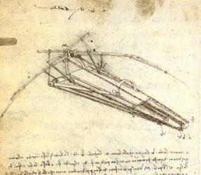 Máquina voadora de Leonardo.