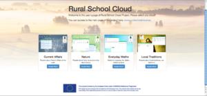 Entorno web do proxecto Rural School Cloud, desenvolvido en Galicia pola USC e o CESGA