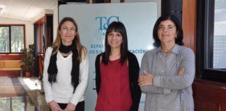 Laura Docio, Paula López e Carmen García Mateo, responsables da investigación da UVigo.