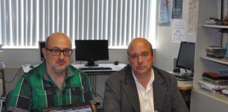 Xavier Gómez Guinovart e Xosé María Gómez Clemente, investigadores do TALG.