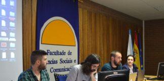 Mesa redonda na Facultade de Ciencias Sociais, nas Xornadas de Emprendedores.