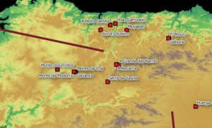 Campamentos romanos usados na conquista de Gallaecia.