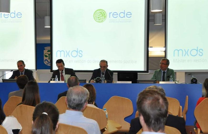 Xavier Lavandeira, Manuel Menéndez, José Manuel García e Alberto Gago, na presentación.