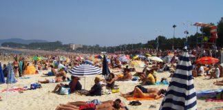 Praia de Samil, en Vigo.