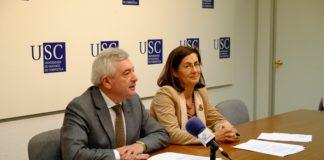 O reitor Juan Viaño e a vicerreitora Dolores Álvarez presentaron o programa.