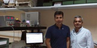 O autor da tese xunto ao seu director, Alfonso Lago