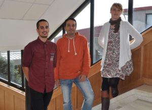 Sergio Álvarez, Enrique Costa e Fátima García, os pais da aplicación